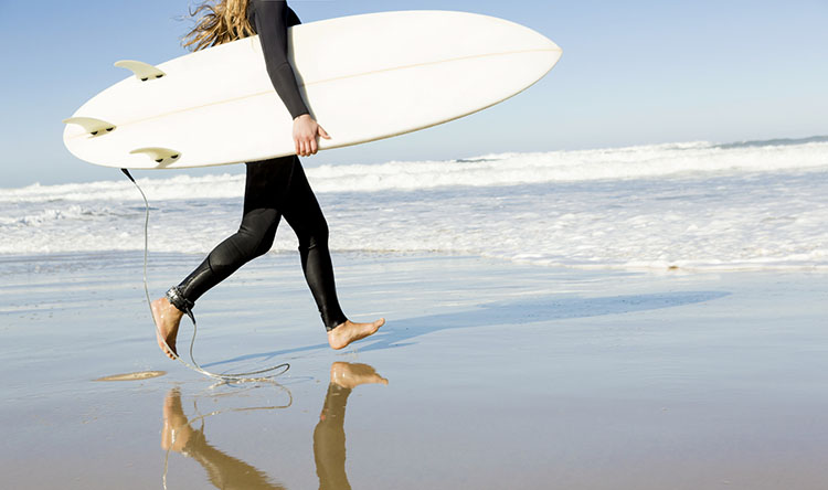 The best beaches in the US to catch a good wave.